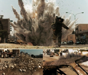 Opening shots from The Hurt Locker