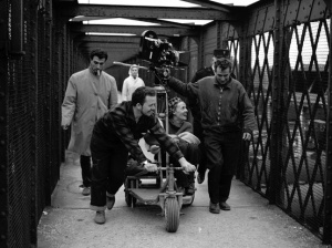 Coutard filming the famous scene on the bridge