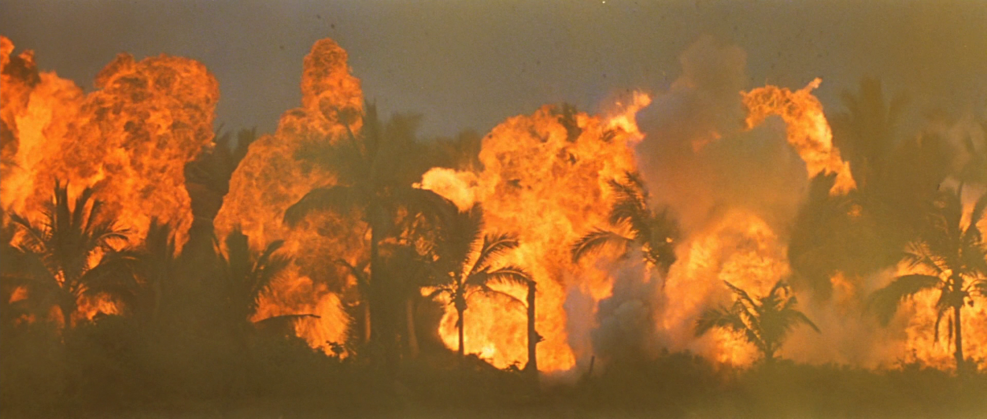 apocalypse now one shot  turns into a hellish nightmare of napalm just as jim morrison starts