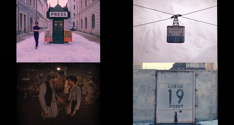 A collection of random shots from the film show the constant use of straight angles.